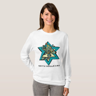 A menorah inside the star of David T-Shirt