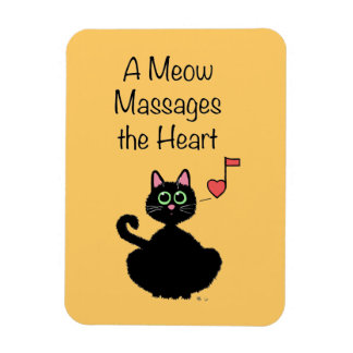 A Meow Massages the Heart Rectangular Photo Magnet