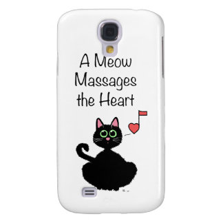 A Meow Massages the Heart Samsung Galaxy S4 Cases