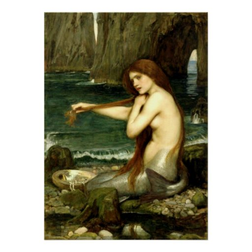 A Mermaid (1901) ~ Fine Art Canvas Print