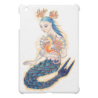 A Mermaid and her Sea Horse Cover For The iPad Mini