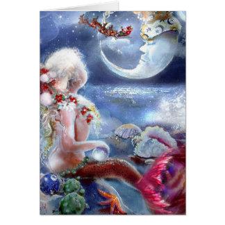 A Mermaid's Christmas Eve Card
