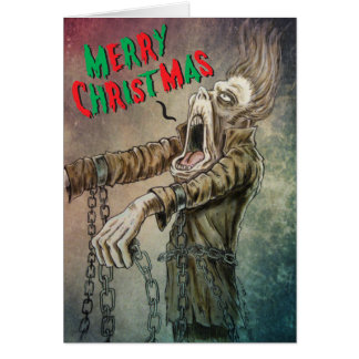 A Merry Christmas Carol from Ghost of Jacob Marley Card