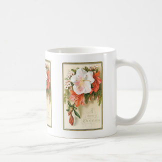 A Merry Christmas Flower Coffee Mug