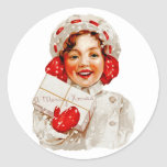 A Merry Christmas Girl Sticker