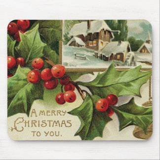 A Merry Christmas to You Holly Mousepad