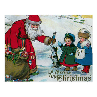 """A Merry Christmas"" Vintage Postcard"