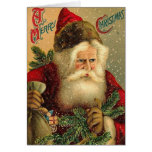 A Merry Christmas Vintage Santa Greeting Card