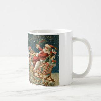 A Merry Christmas Vintage Santa Coffee Mug