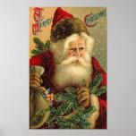 A Merry Christmas Vintage Santa Print