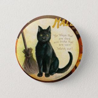 A Merry Halloween - Ellen Clapsaddle 6 Cm Round Badge