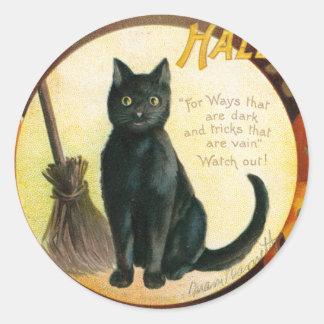 A Merry Halloween - Ellen Clapsaddle Classic Round Sticker