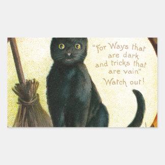 A Merry Halloween - Ellen Clapsaddle Rectangular Sticker