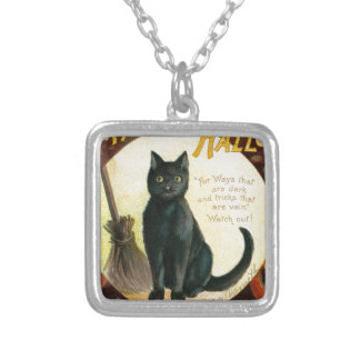 A Merry Halloween - Ellen Clapsaddle Silver Plated Necklace