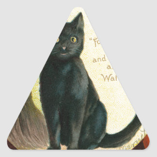 A Merry Halloween - Ellen Clapsaddle Triangle Sticker