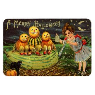 """A Merry Halloween"" Vintage Image Rectangular Photo Magnet"