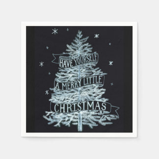 A Merry Little Christmas Paper Napkins, 2 pack Disposable Napkin