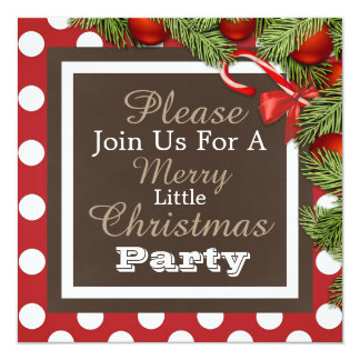 """""""A Merry Little Christmas Party"""" Invitation"""