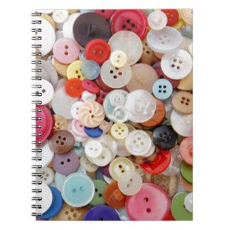 A Mess of Buttons Spiral Notebook