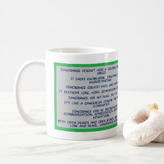 a message about IGNORANCE Coffee Mug