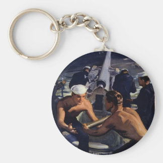 A Message from America Basic Round Button Key Ring