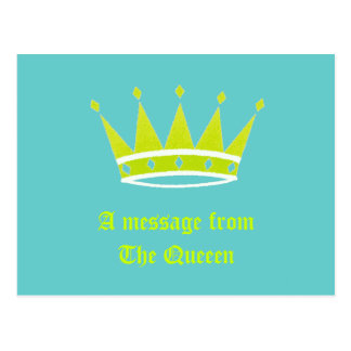 A message from The Queeen Postcards