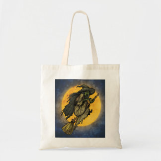 A Midnight Ride Halloween Tote Bag Budget Tote Bag