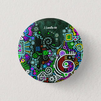 """A Midnight Walk"" 3 Cm Round Badge"