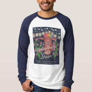 A Midsummer Goat's Dream baseball t-shirt