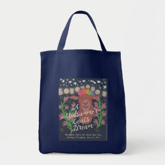 A Midsummer Goat's Dream grocery tote bag