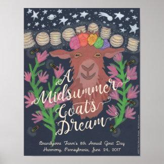 """A Midsummer Goat's Dream poster (11"""" x 14"""")"""