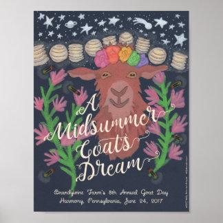 """A Midsummer Goat's Dream poster (8.5""""  x 11"""")"""