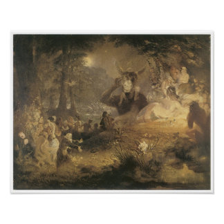 A Midsummer Night's Dream, 1834 Poster