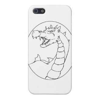 A Mighty Dragon (lined design) iPhone 5 Cover