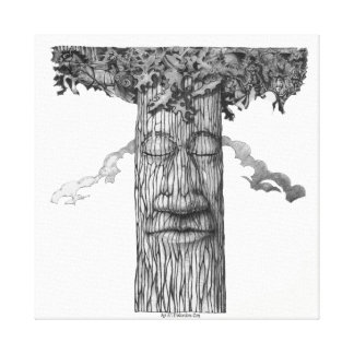 A Mighty-Tree-Cover-B&W Canvas Print