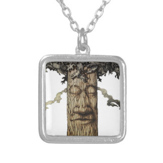 A  Mighty Tree Cover Silver Plated Necklace