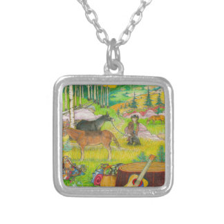 A-MIGHTY-TREE-P56 SILVER PLATED NECKLACE