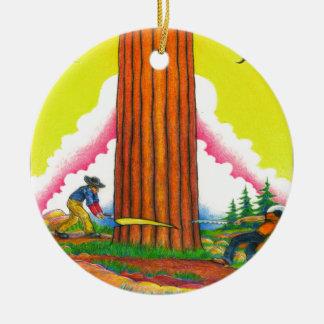 A-MIGHTY-TREE-Page 8 Original Round Ceramic Decoration