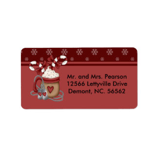 A Military Christmas Label