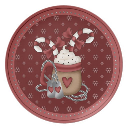 A Military Christmas Party Plate