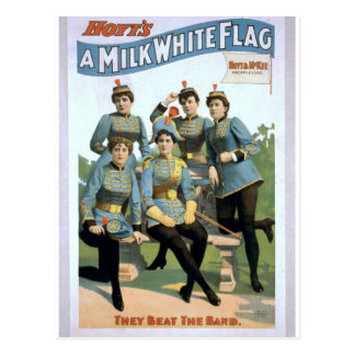 A Milk White Flag, 'They Beat The Band' Retro Thea Post Card