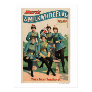 """A Milk White Flag"" Woman's Marching Band Post Cards"