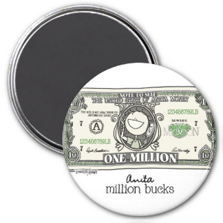 A million for Women 7.5 Cm Round Magnet