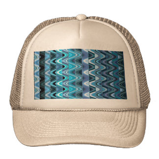 A Modern Abstract Colorful Wave Pattern Trucker Hats