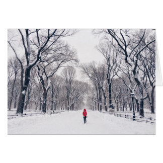 A Modern Little Red Riding Hood in Central Park Card