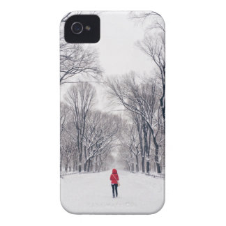 A Modern Little Red Riding Hood in Central Park Case-Mate iPhone 4 Case