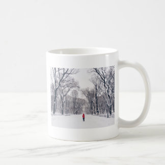 A Modern Little Red Riding Hood in Central Park Coffee Mug