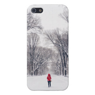 A Modern Little Red Riding Hood in Central Park iPhone 5/5S Cases