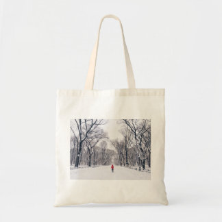 A Modern Little Red Riding Hood in Central Park Tote Bag