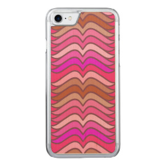 A modern neon pink  wave pattern carved iPhone 8/7 case